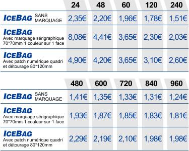 Ice bag transparent personnalis ou vierge avec impression numerique ou s rigraphie - Ice bag pas cher ...